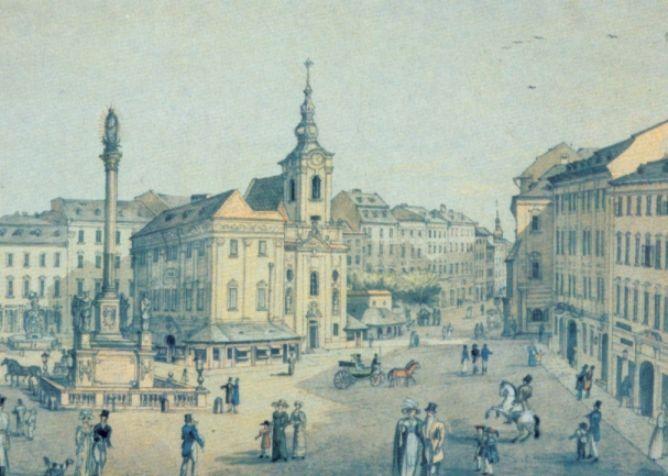 St. Niclaus church, Brno, ca. 1230-1869