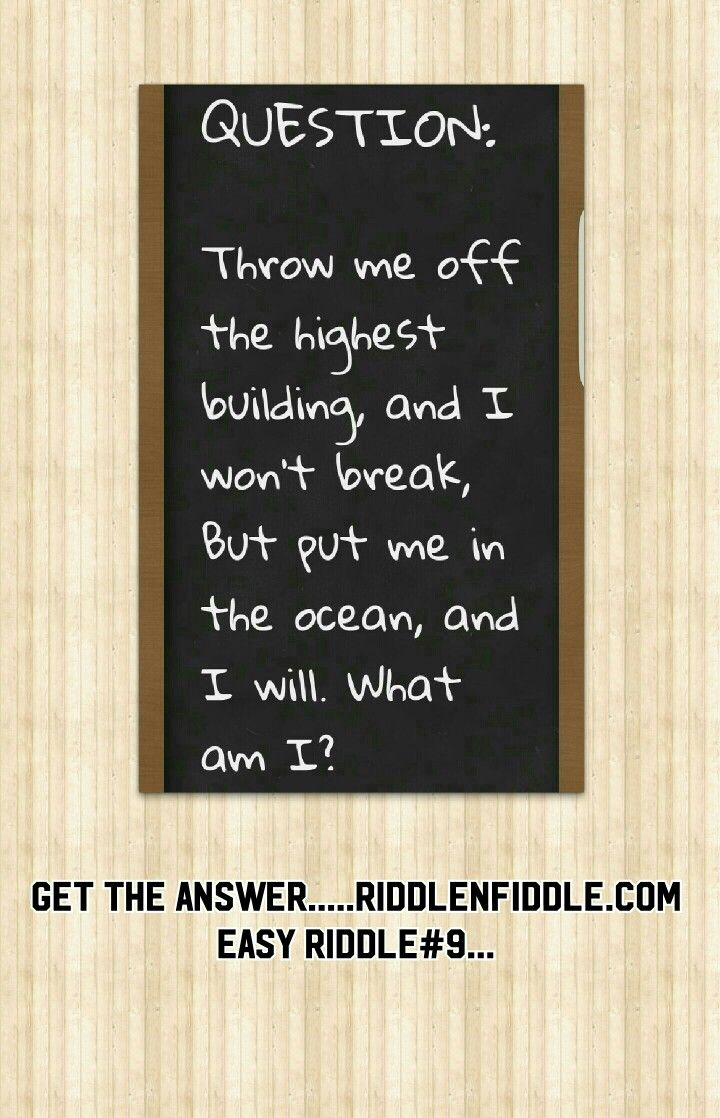 childrens minds get stimulated with riddles. Buildings and oceans...what could it be...check out the answer.