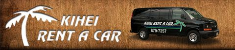 Kihei Car Rental. Great for discount car rental on the island. Airport pick up to office in Kihei. Good if staying in Kihei or Wailea.