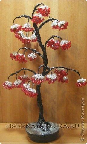 зимние деревья из бисера фото   Фотоархив