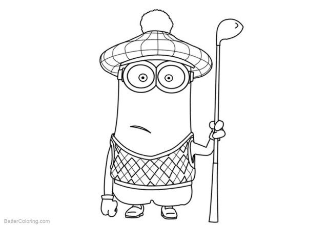 27 Beautiful Image Of Golf Coloring Pages Minion Coloring Pages