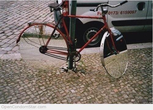 Almost invisible bike