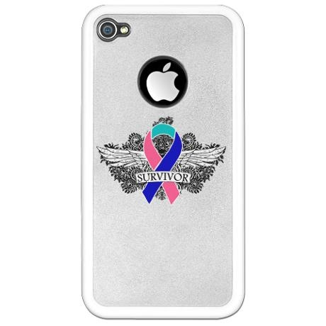 Thyroid Cancer Survivor iphone case--@Miriam Edwards Cornatzer, if you ever get an iphone, of course...