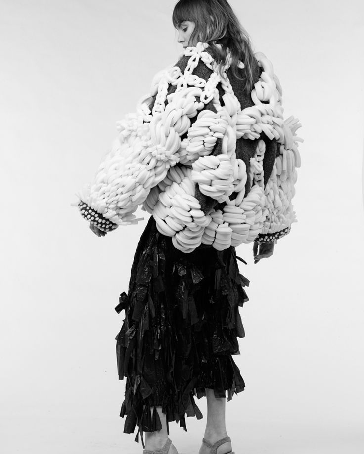 Sculptural Fashion with 3D textures & oversized silhouette; wearable art // Hayley Grundmann