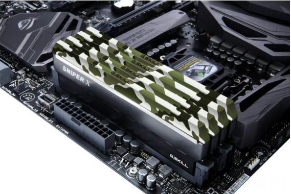 G.Skill Sniper X, los nuevos módulos de memoria RAM DDR4 de la compañía, destinados a la gama media y cuyos disipadores de aluminio llegan con tres diseños diferentes de camuflaje. Llegan nuevos módulos de memoria RAM desarrollados por G.Skill, que en este caso lo que ofrecen son un diseño innov...