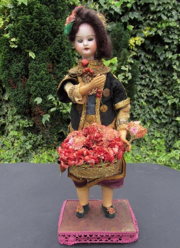 Rare Gebruder Knoch Flower Seller Doll Automaton c1900 Germany