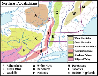Best Appalachian Mountains Map Ideas On Pinterest - Map of mountain ranges in the united states