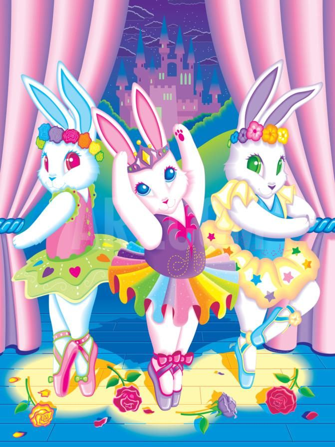 Ballerina Bunnies '92 Art Print by Lisa Frank at Art.com