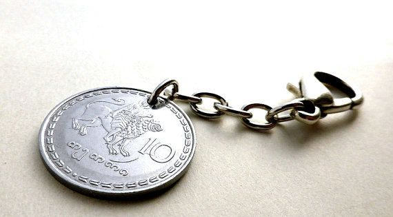 Georgian Coin charm Vintage charm Handbag charm by CoinStories