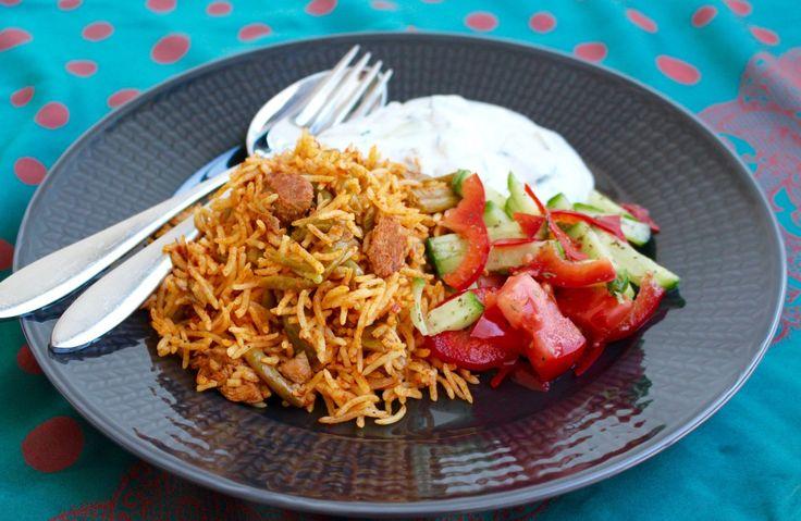 Lobia Polo- Persiskt ris med gröna bönor och kött - ZEINAS KITCHEN