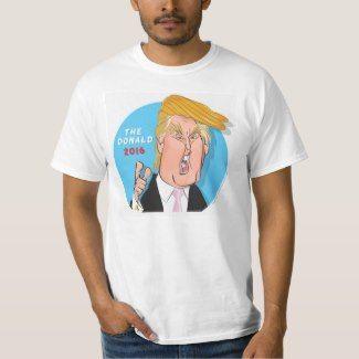 Donald Trump President 2016 Cartoon Tshirt