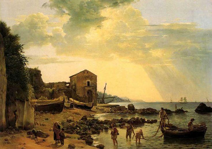ЩЕДРИН СЕМЁН ФЁДОРОВИЧ (1745-1804).Берег в Соренто с видом на остров Капри
