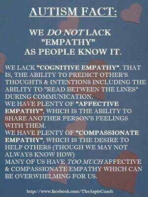 Autism Compassion / Empathy facts