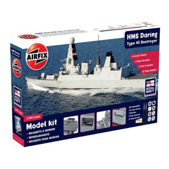 Airfix 1:350 HMS Daring Type 45 Destroyer Gift Model Set A50132