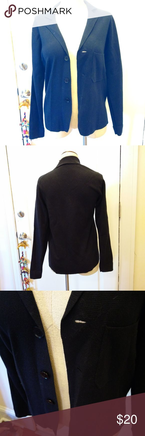 """Navy blue Uniqlo cardigan blazer XS Navy blue, 3 button blazer style cardigan sweater from Uniqlo. Size XS.  Shoulders 16"""" Sleeves 25"""" Length 26"""" Uniqlo Sweaters Cardigans"""
