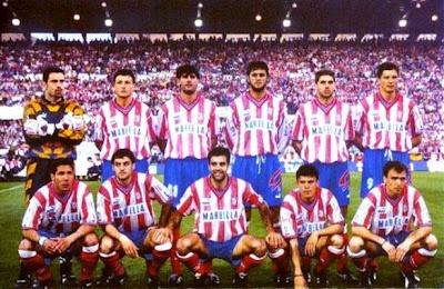 Atlético de Madrid campeón de liga y copa 95-96. |Pinned from PinTo for iPad|