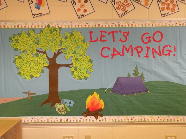 Heres The Bulletin Board I Just Finished Doing To Go Along Our Camping Theme Summer Camp