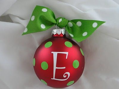 homemade ornament tutorial... cute, cute, cute!!