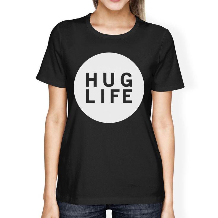 >> Click to Buy << Hug Life Women's Black T-shirt Short Sleeve Simple Graphic Shirt Female Fashion Cotton Hip Hop T Shirt Women Brand Kawaii #Affiliate