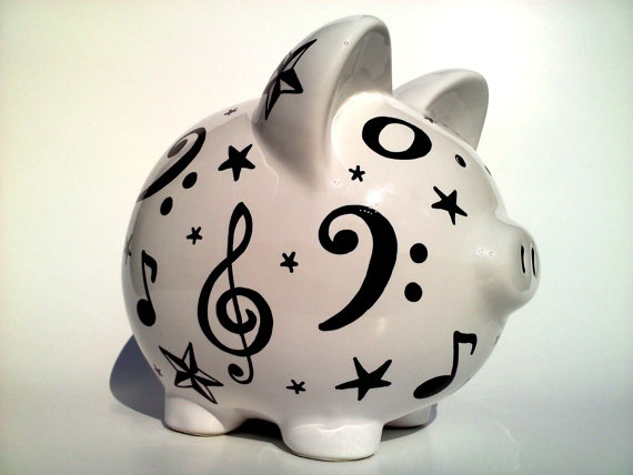 music note piggy bank!