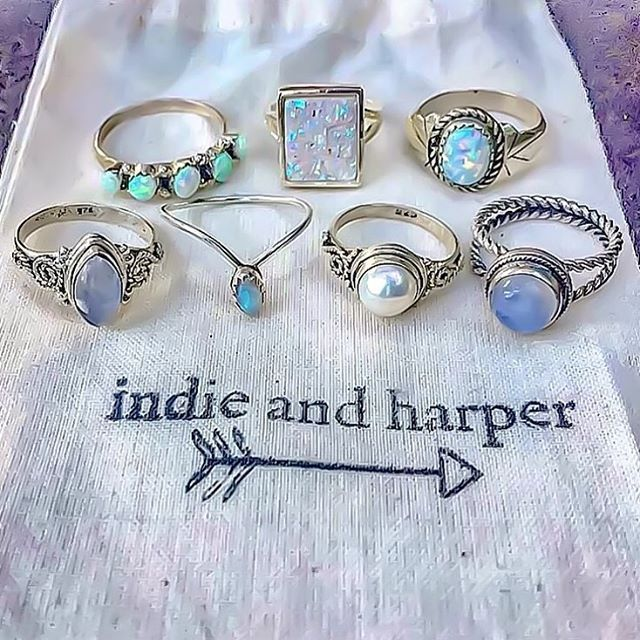Zuni Blue Opal Ring | Bohemian Gypsy Tribal Jewelry | Indie and Harper