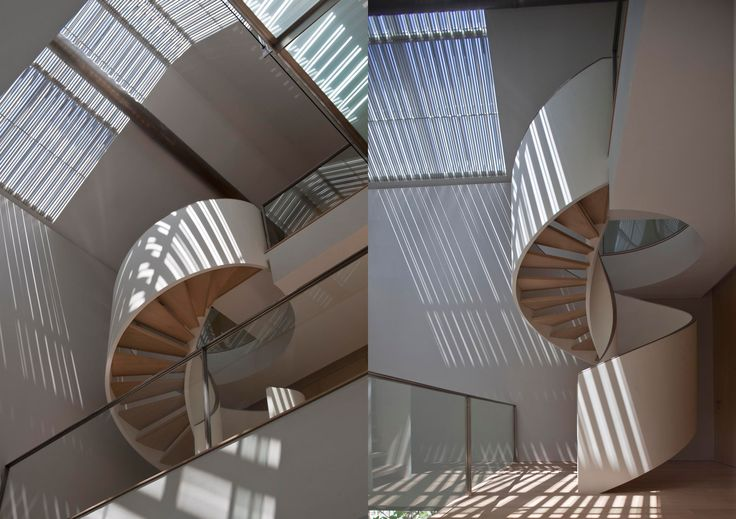 Spiral Stairs. Cove Grove House | Bedmar & Shi