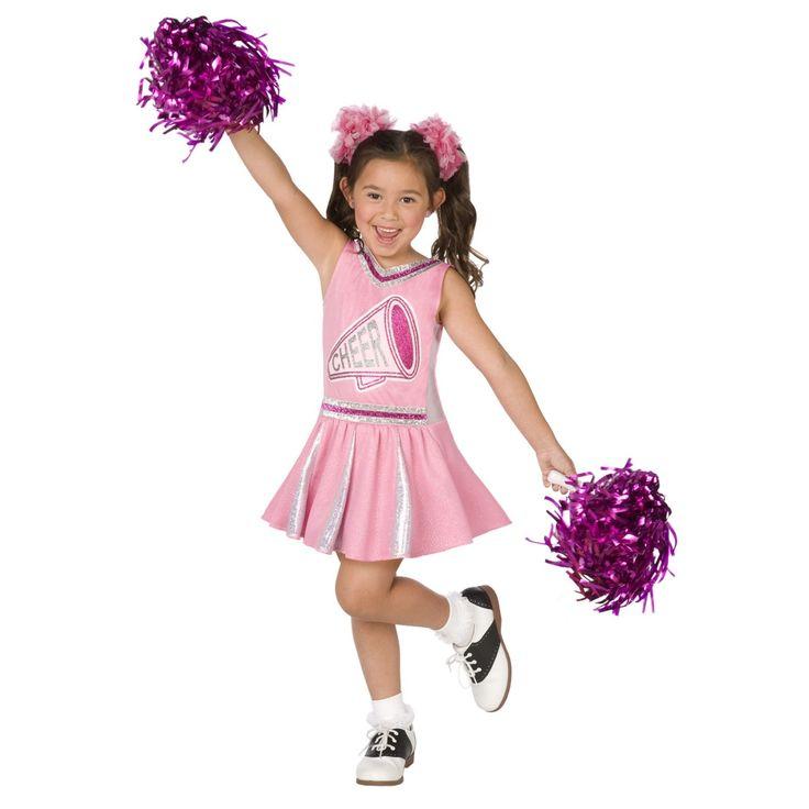 cheer costumes for girls | Pink Cheerleader Girl Costume $21.89 - Girls Costumes | Kids Halloween ...