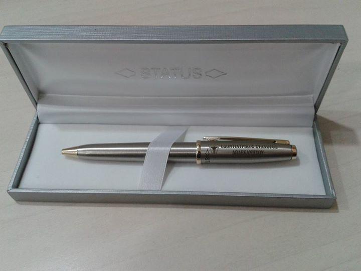 Μεταλλικό Στυλό με χάραξη LASER για τον Οδοντιατρικό Σύλλογο Ρόδου.