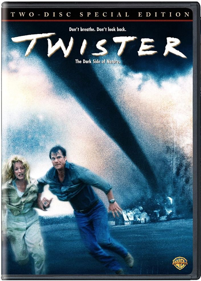In this action-packed disaster film set in America's heartland, an ex-husband-and-wife team of storm chasers rushes to be the first to study the dynamics of tornados with some fascinating new technology. Though #HelenHunt and #BillPaxton star--along with a pre-fame #PhilipSeymourHoffman--the uncredited lead roles are the tornados, created with eye-dazzling computer-generated effects. #Twister #DVD
