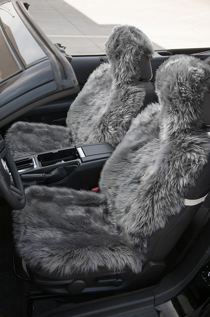 Suitable for a single car seat this genuine sheepskin seat cover begs to transform the