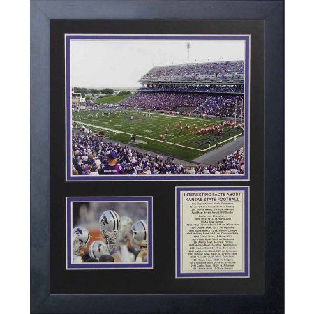 Legends Never Die Kansas State Wildcats Bill Snyder Family Football Stadium Framed Photo Collage, 11 inch x 14 inch