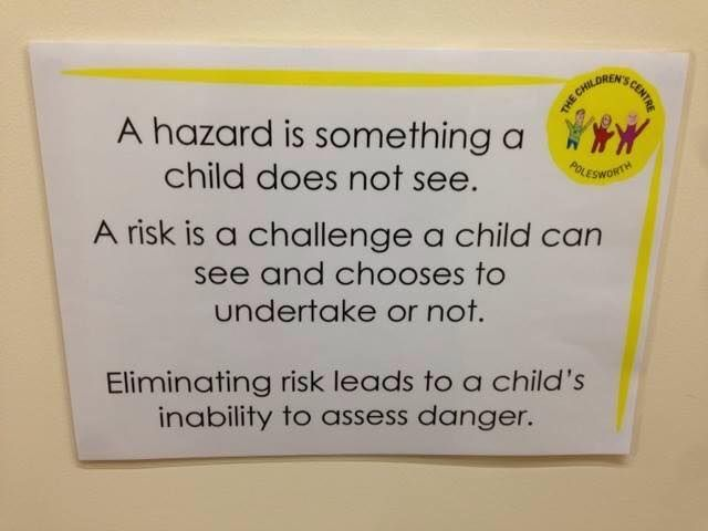 The importance of learning how to take risks. From natureplay