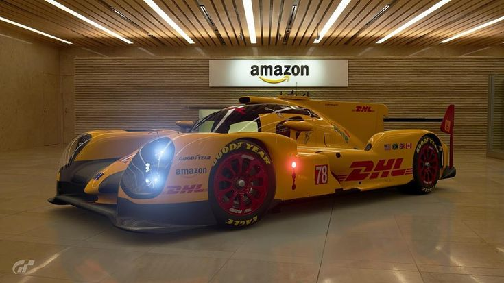 Checking out the scapes in GT Sport and I noticed some Amazon backgrounds. So I thought it would be fitting to get a shot of my Toyota TS050 with DHL Amazon livery design. #grandturismo #gts #gtsport #grandturismosport #scapes #videogamephotographer #simracing #toyota #toyotats050 #amazon #dhl #livery #liverydesign #playstation4 #ps4 #playstation