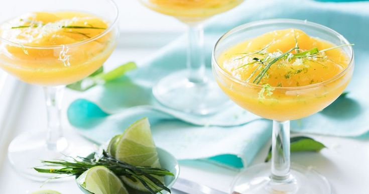 For the perfect summer cocktail you can't go past these icy cold mango and chamomile daiquiris.