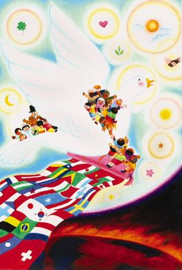 """Dream of Peace"" 2002-2003 Grand Prize Winner by 11-year-old Sittichok Pariyaket of Thailand"