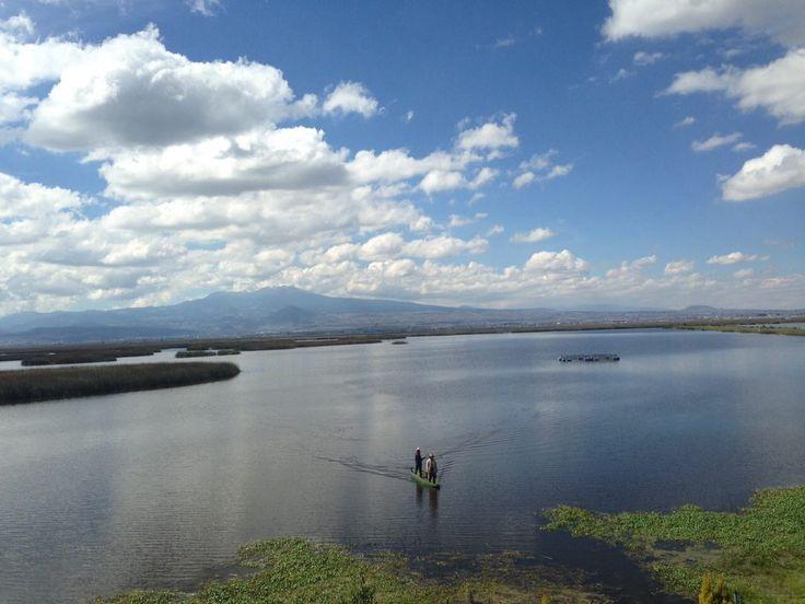 Vista del Nevado de Toluca y el Río Lerma desde la casa de los cuidadores del agua.