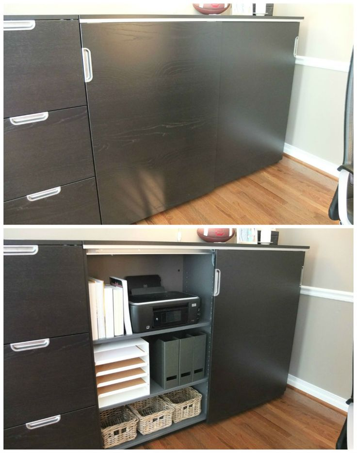 black sliding door storage cabinet 2