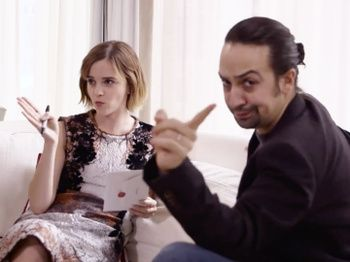 Watch Lin-Manuel Miranda & Emma Watson Talk #HeForShe & Geek Out Over Hamilton & Harry Potter