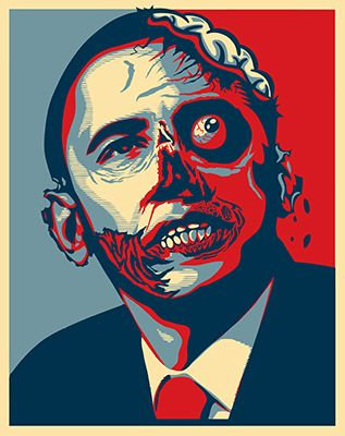 Image result for obama zombie ghoul