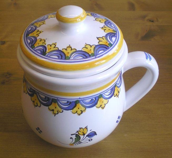 Handmade cup ceramic (hutterite design)