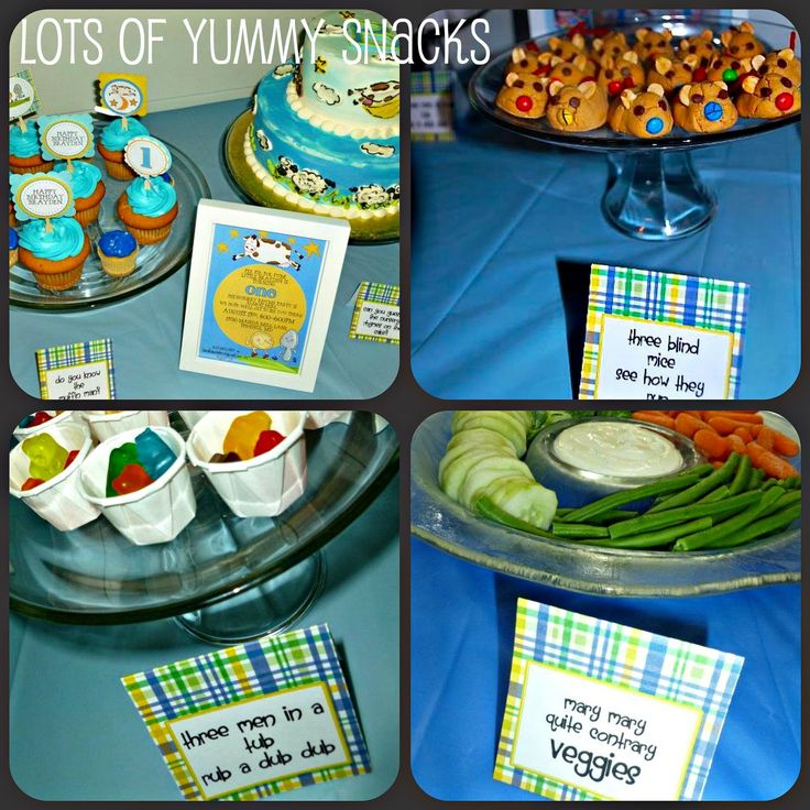 I think nursery rhyme parties are so adorable and the perfect theme to celebrate a first birthday party.  What is sweeter than all the class...