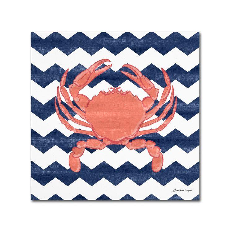 Stephanie Marrott 'Crab Chevron' Canvas Art