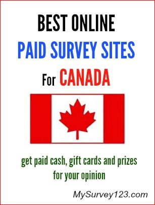 Do you live in Canada and would like to make extra money taking online surveys? Here  is a list of best legitimate Canadian online paid surveys panels that you can join and get paid for taking surveys online. http://mysurvey123.com
