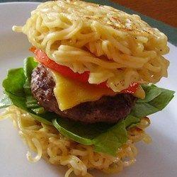 Like to try, my son loves ramen noodles. Ramen Burger - Allrecipes.com