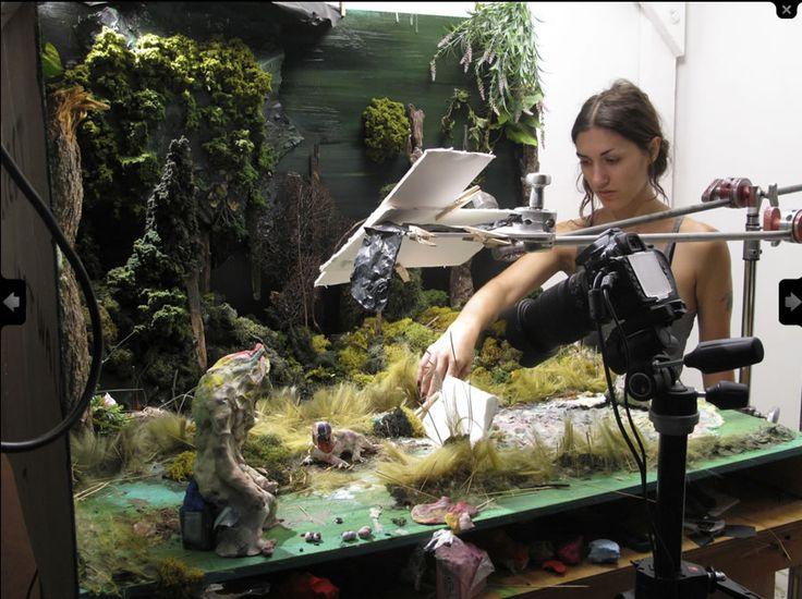 Allison Schulnik's Stop Motion Studio Set Up