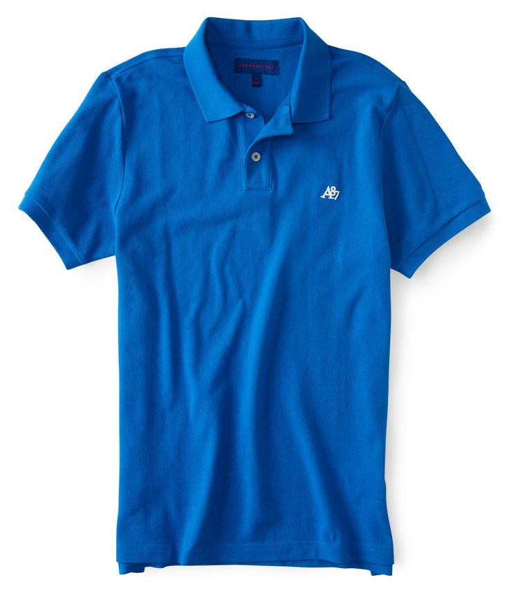 aeropostale-mens-a87-solid-logo-pique-polo-shirt