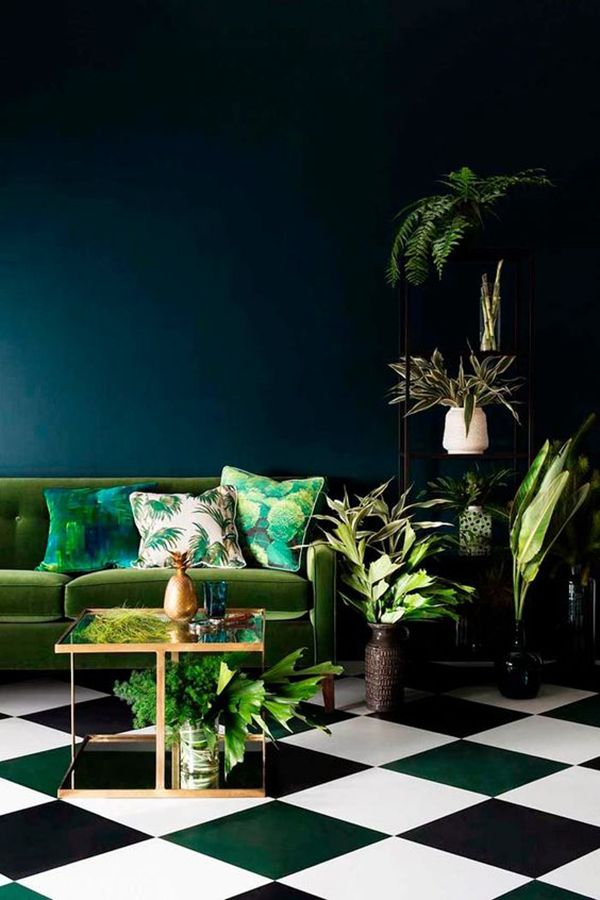 Lush Meadow Living Room & Checkerboard Floor | Top 10 Pantone Colours for Fall 2016 | Visit Travelshopa