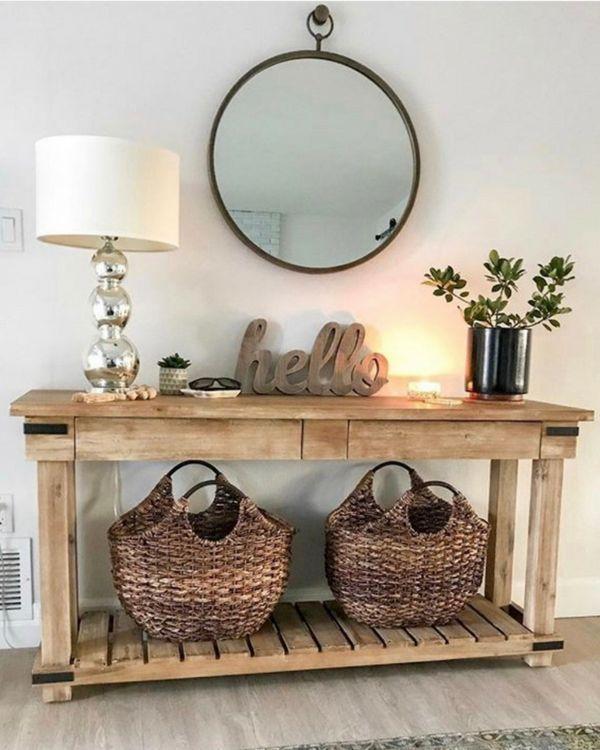 Modern Farmhouse Decor can easily be made more Rustic depending on pieces chosen. Create your own style. #modernfarmhouse #rustic #farmhousedecor #farmhouselivingroom #farmhousestyle