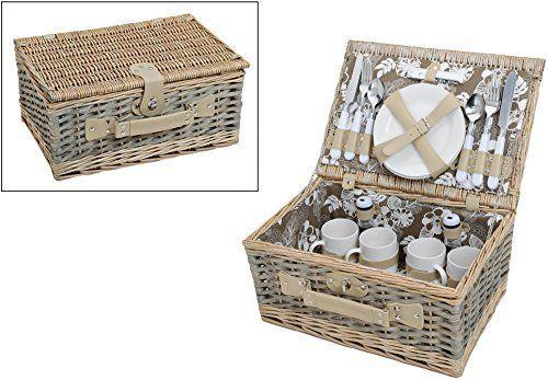 Picknickkorb, grün weiß mit Blumenmuster | Picknickset für 4 Personen | 24 Teile, http://www.amazon.de/dp/B0123731AI/ref=cm_sw_r_pi_awdl_6JcIwb1NJ8F3N