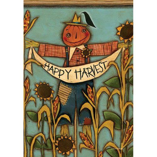 Happy Harvest Garden Flag